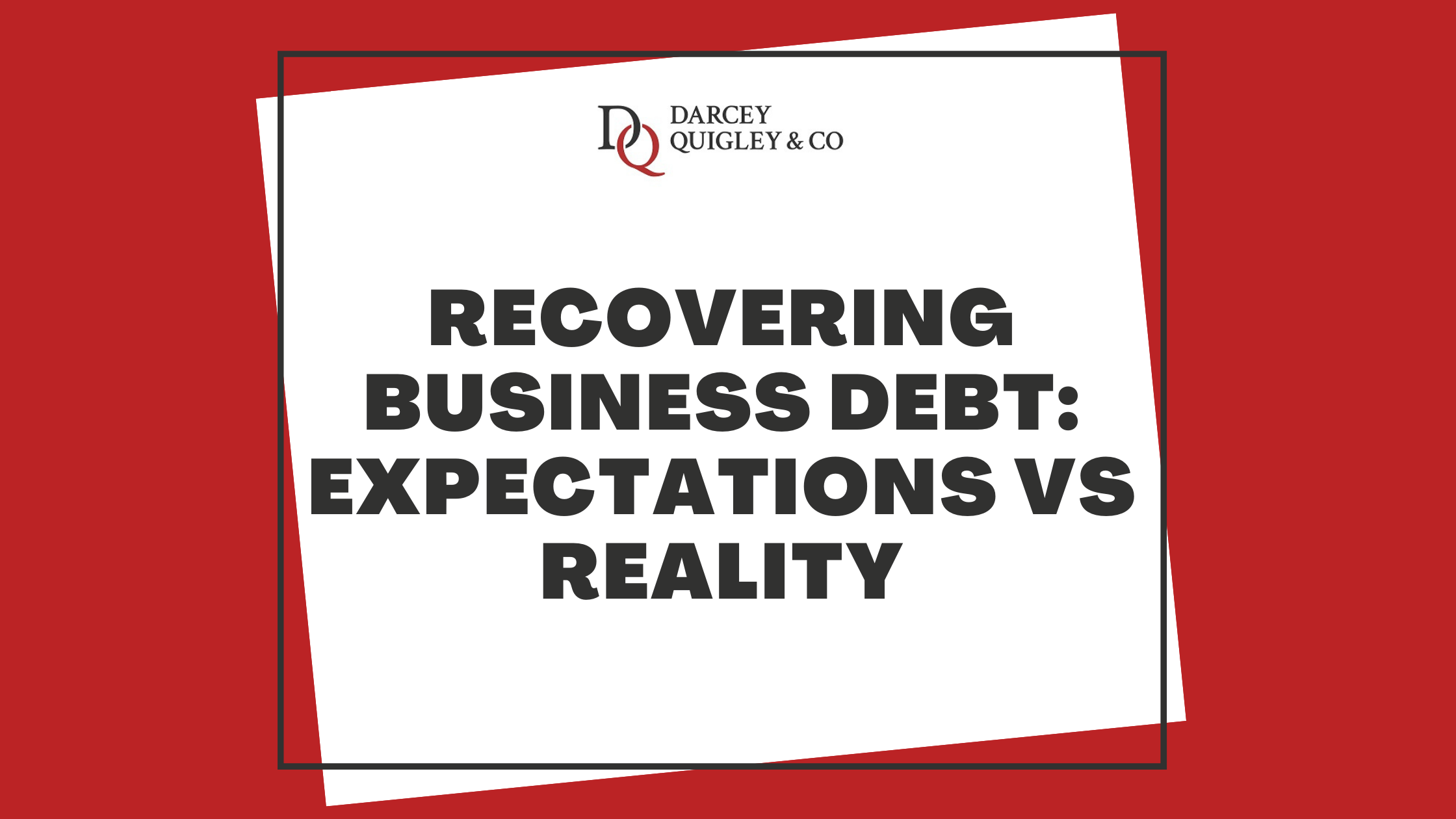 Graphic for the blog article about recovering business debt.